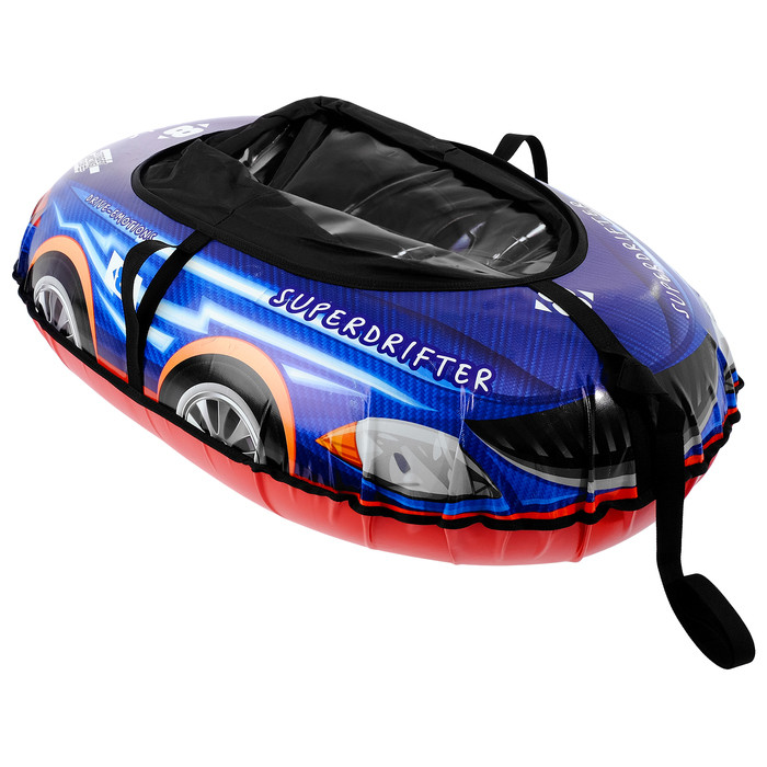 Тюбинг-ватрушка «Машинка», № 10, 118 х 82 см, цвет синий