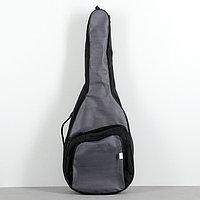 Чехол гитарный классический неутепленный, серый, c 2 ремнями, объемные карманы, фото 1