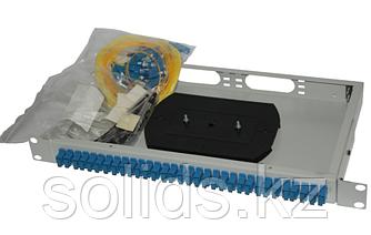 Оптический кросс 1U укомплектованный на 32 порта SC/UPC