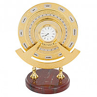 """Часы """"Вечный календарь"""" яшма"""