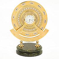 """Часы интерьерные """"Вечный календарь"""" камень нефрит в подарочной коробке Златоуст"""