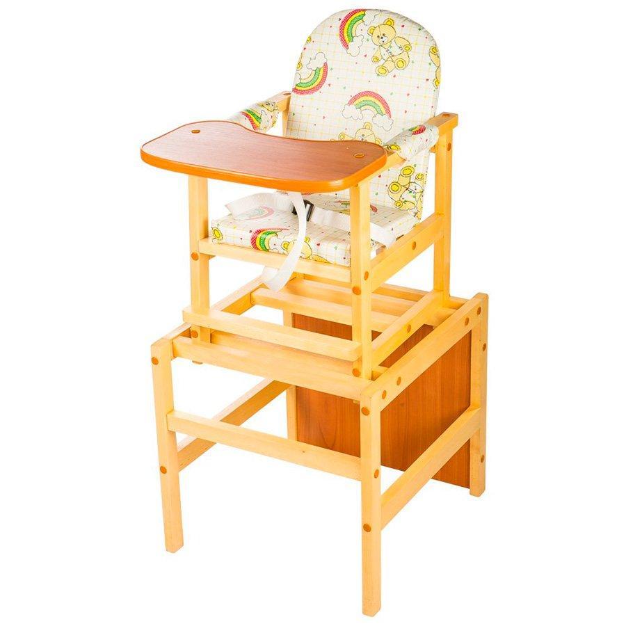 Стул-стол для кормления ПДМК Октябренок Мишки Светлый орех (О7)