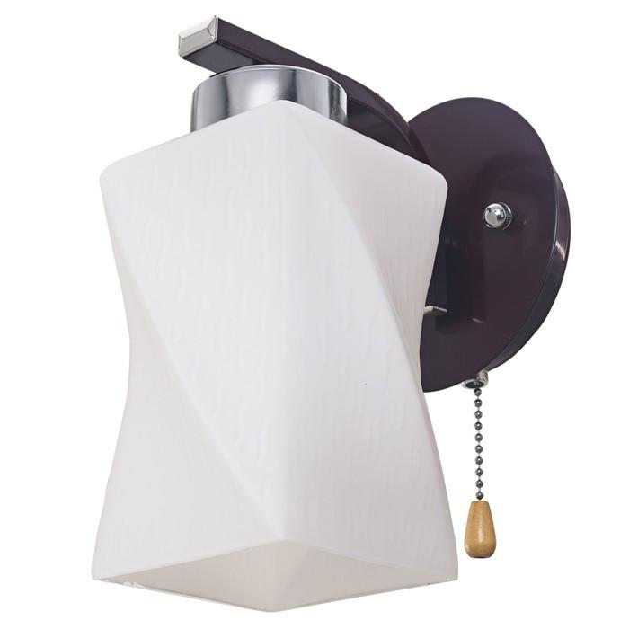 """Бра еврокаркас """"Спираль"""" 1 лампа 60W E27 коричневый-хром 11,5х11,5х25 см"""