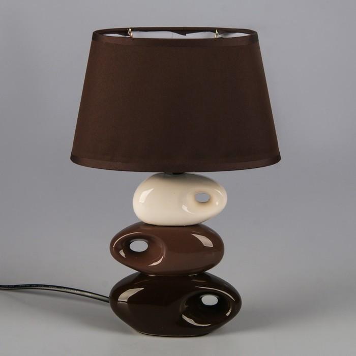 "Светильник ""Желание"" коричнево- белый 1x25W E14 12,5x19,5x31 см"