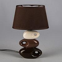 "Светильник ""Желание"" коричнево- белый 1x25W E14 12,5x19,5x31 см, фото 1"