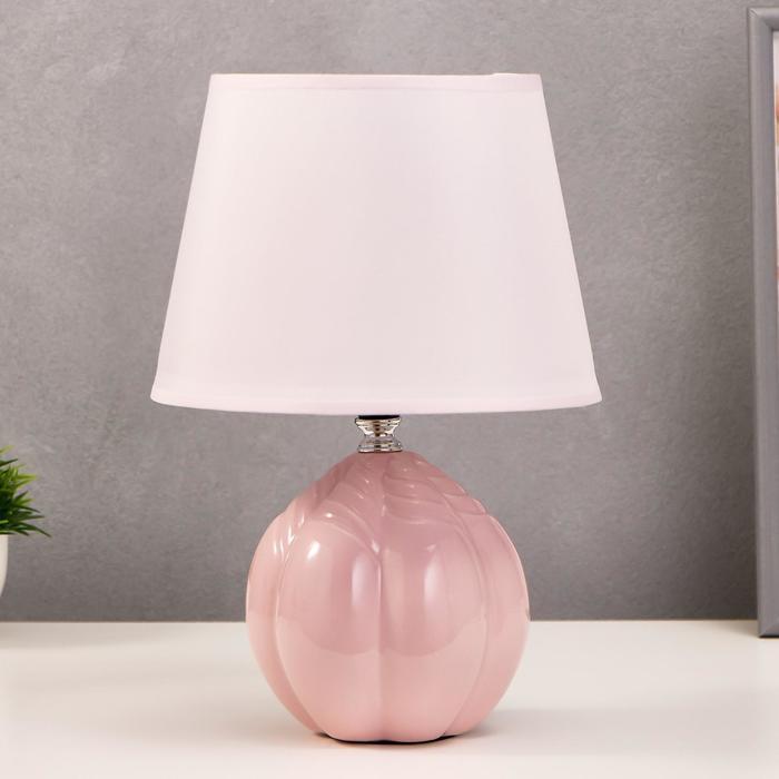 """Лампа настольная """"Бутон"""" Е27 1х40Вт светло-розовый 20х20х30 см"""