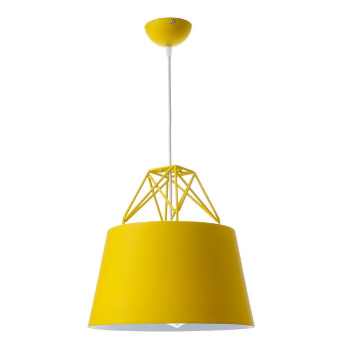 Светильник подвесной «Кафе», 1 × 60 Вт, E27, жёлтый, 30 × 30 × 32 см
