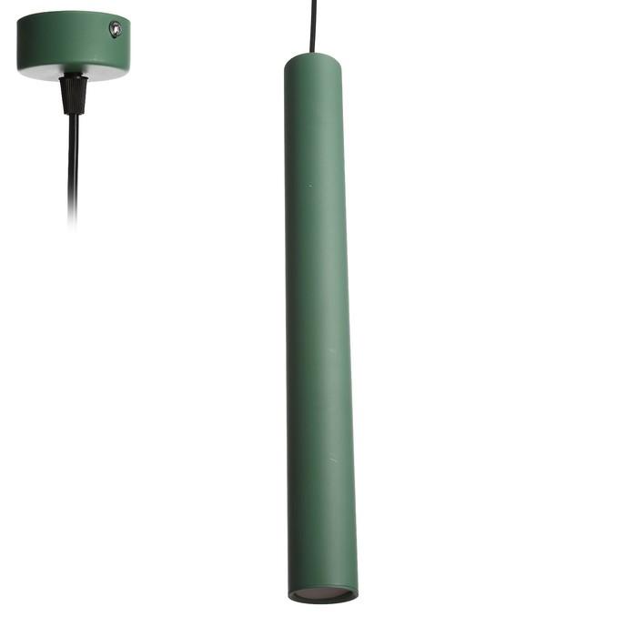 """Светильник """"Маттис"""" 1х40Вт GU10 зеленый 5,5х5,5х150см."""