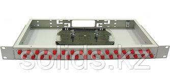 Оптический кросс 1U укомплектованный на 32 порта FC/UPC
