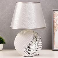 Лампа настольная 7515118TL/1 E14 40Вт белый-серебро 25х25х37,5 см