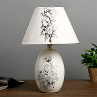 """Лампа настольная """"Аромат цветов"""" 1х40Вт Е14 белый 25х25х36 см."""