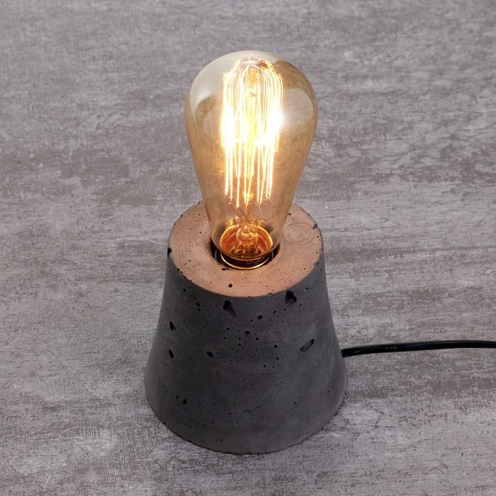 Настольная лампа 4431/1 E27 60Вт серый, диммер 10х10х10 см