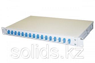 Оптический кросс 1U укомплектованный на 32 порта LC/UPC