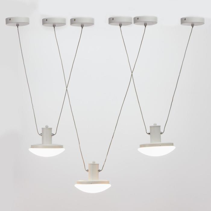 Светильник с ПДУ 74627/1 LED 54Вт 3000-6000К диммер белый 105х18х50 см