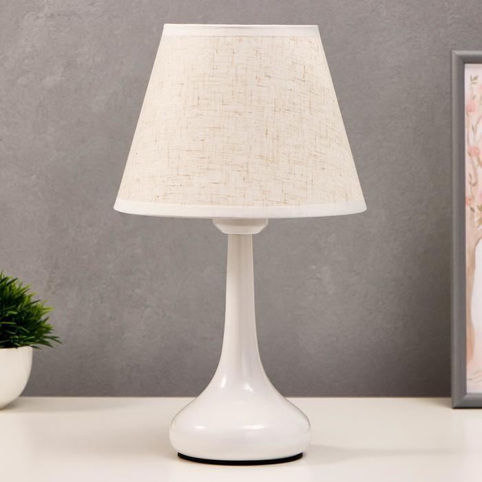 Лампа настольная 16155/1 E27 40Вт белый 19,5х19,5х34 см
