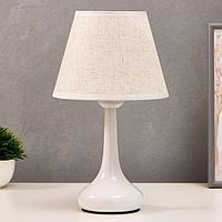 Лампа настольная 16155/1 E27 40Вт белый 19,5х19,5х34 см, фото 1