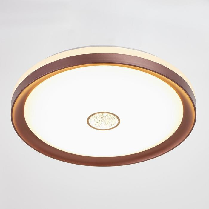 Светильник с ПДУ 670521N LED 72Вт 3 режима 3000-6000К диммер кофе 49х49х8 см