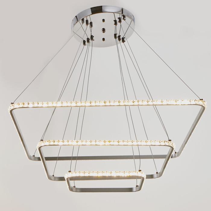 Люстра 59913/3 LED 114Вт 4000К серебро 71х71х2-82 см