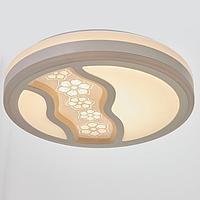 Светильник с ПДУ 670528N LED 72Вт 3 режима 3000-6000К диммер белый 49х49х9,5 см, фото 1