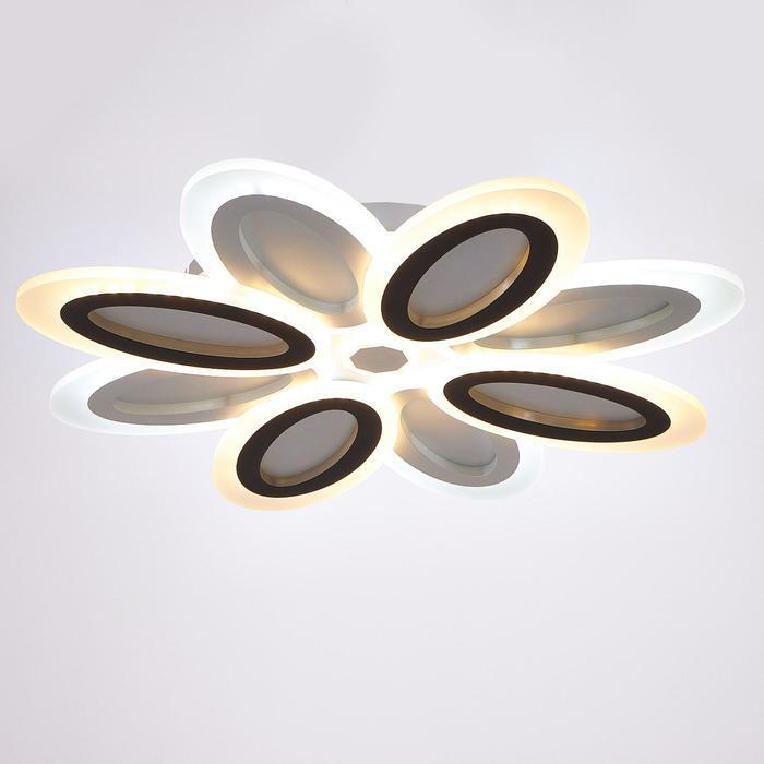 Люстра с ПДУ 69653/LED 160Вт диммер 3000-6000К белый-кофе 55х55х6 см