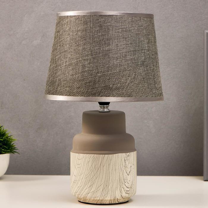 Лампа настольная 16173/1 Е14 40Вт бело-серый 22х22х36 см