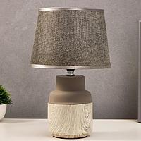 Лампа настольная 16173/1 Е14 40Вт бело-серый 22х22х36 см, фото 1
