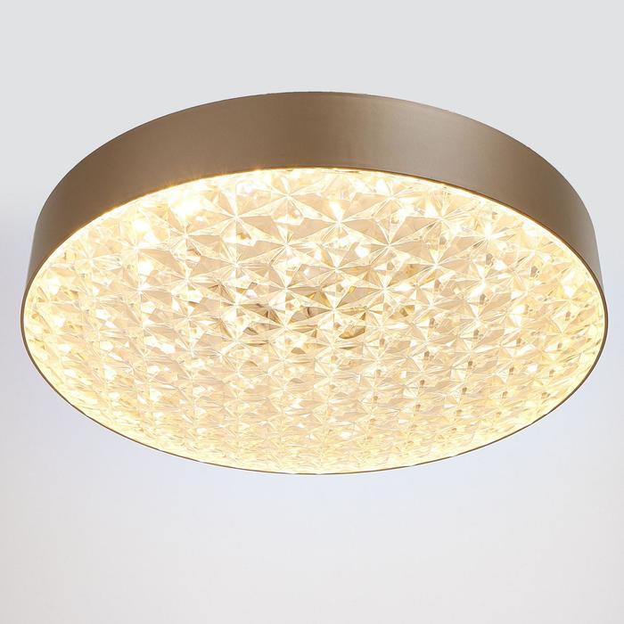 Светильник с ПДУ 670526N LED 72Вт 3 режима 3000-6000К диммер золото 48х48х12 см