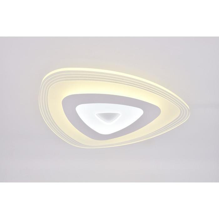 Люстра с ПДУ 74661/1 LED 50Вт 3000-6000К диммер бело-прозрачный 50х50х5 см