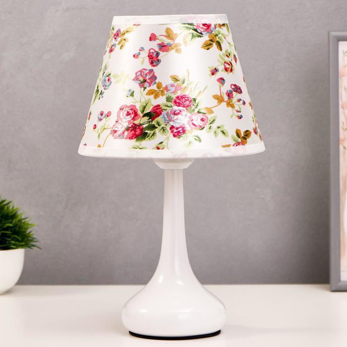 Лампа настольная 16154/1 E27 40Вт белый 19,5х19,5х34 см