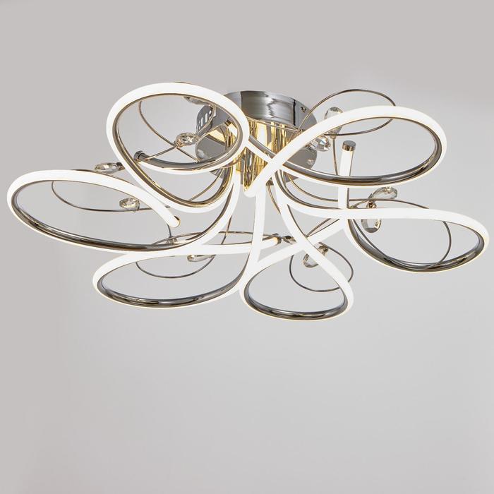 Светильник c ПДУ 69539/1 LED 102Вт диммер хром 71х71х17 см