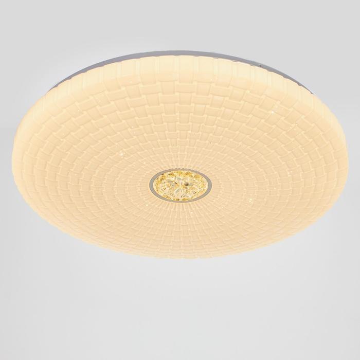 Светильник с ПДУ 670518N LED 72Вт 3 режима 3000-6000К диммер белый 50х50х6 см