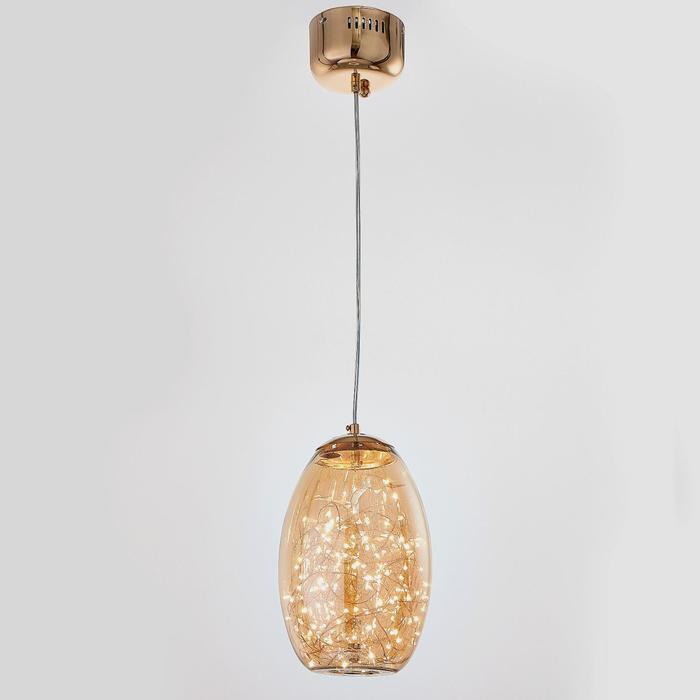 Светильник 59922/1 LED 18Вт 3000К золото 17х17х30-110 см