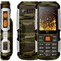 Мобильный телефон BQ-2430 Tank Power Камуфляж+Серебро