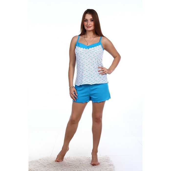 Пижама женская (майка, шорты), цвет МИКС, размер 48