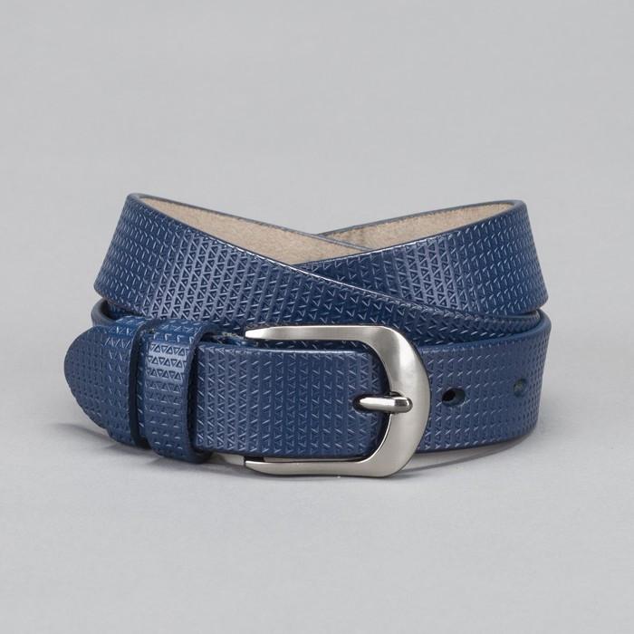 Ремень женский, пряжка тёмный металл, ширина - 2,6 см, цвет синий