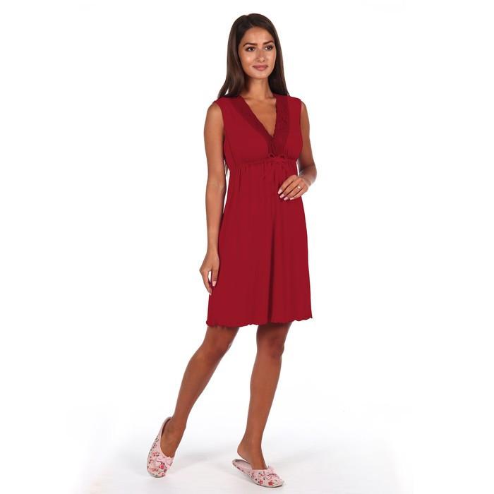 Сорочка женская «Лисия», цвет бордо, размер 48