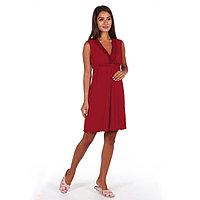 Сорочка женская «Лисия», цвет бордо, размер 48, фото 1