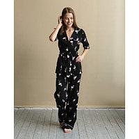 Сорочка женская MINAKU «Фламинго», р. 60, цвет чёрный, фото 1