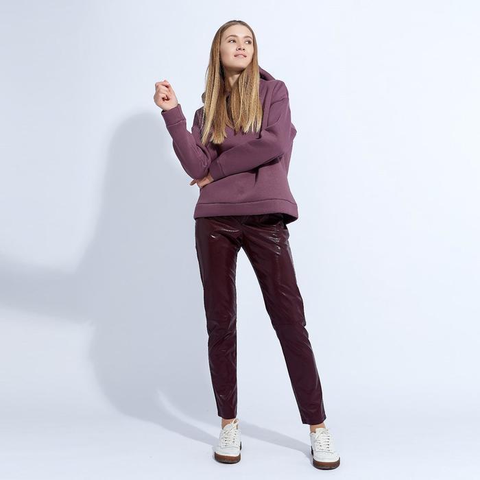 "Брюки женские MINAKU ""Leather look"", размер 44, цвет бордо"