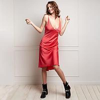 """Платье женское MINAKU """"Silk pleasure"""" цвет коралл, р-р 48"""