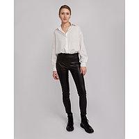 Брюки женские MINAKU: Leather look, цвет чёрный, размер 42, фото 1