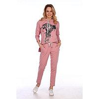 Костюм женский (худи, брюки), цвет пудровый, размер 50, фото 1