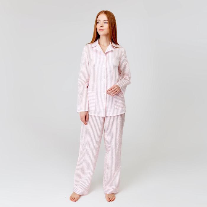 Брюки пижамные женские MINAKU: Light touch цвет розовый, р-р 54