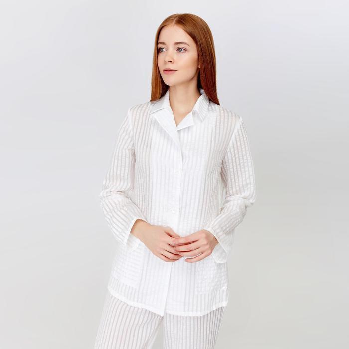 Рубашка женская MINAKU: Light touch цвет белый, р-р 52