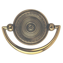 Ручка-кольцо, 'Decorative' 72x53мм, золото Валенсия, накл., винт