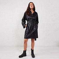 Платье женское MINAKU: Leather look цвет чёрный, р-р 48, фото 1