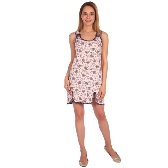 Сорочка женская «Елена», цвет розовый, размер 44