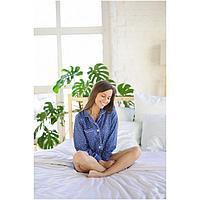 Пижама женская (сорочка, шорты), цвет синий, размер 44, фото 1