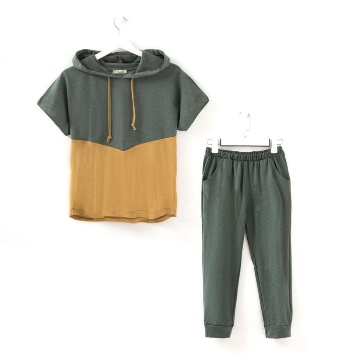 Костюм (футболка, бриджи) женский «Горизонт» цвет хаки, р-р 46