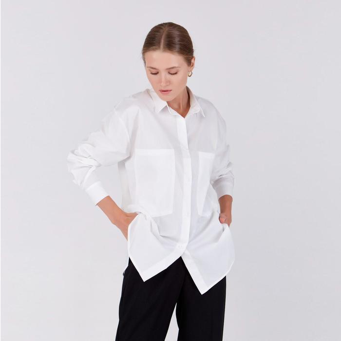 Рубашка женская MINAKU: DRESS CODE цвет белый, р-р 46